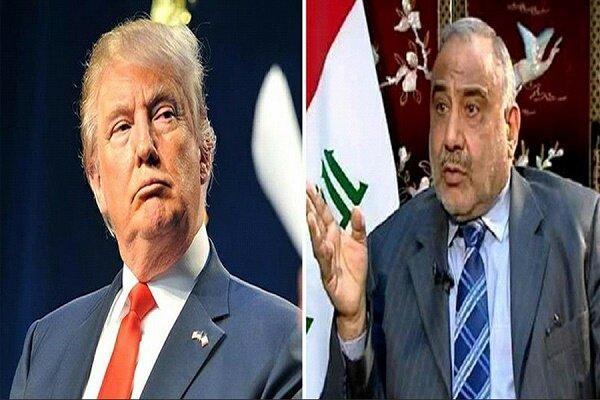دستور العمل جدید عبدالمهدی، ائتلاف آمریکایی از عراق خارج می گردد