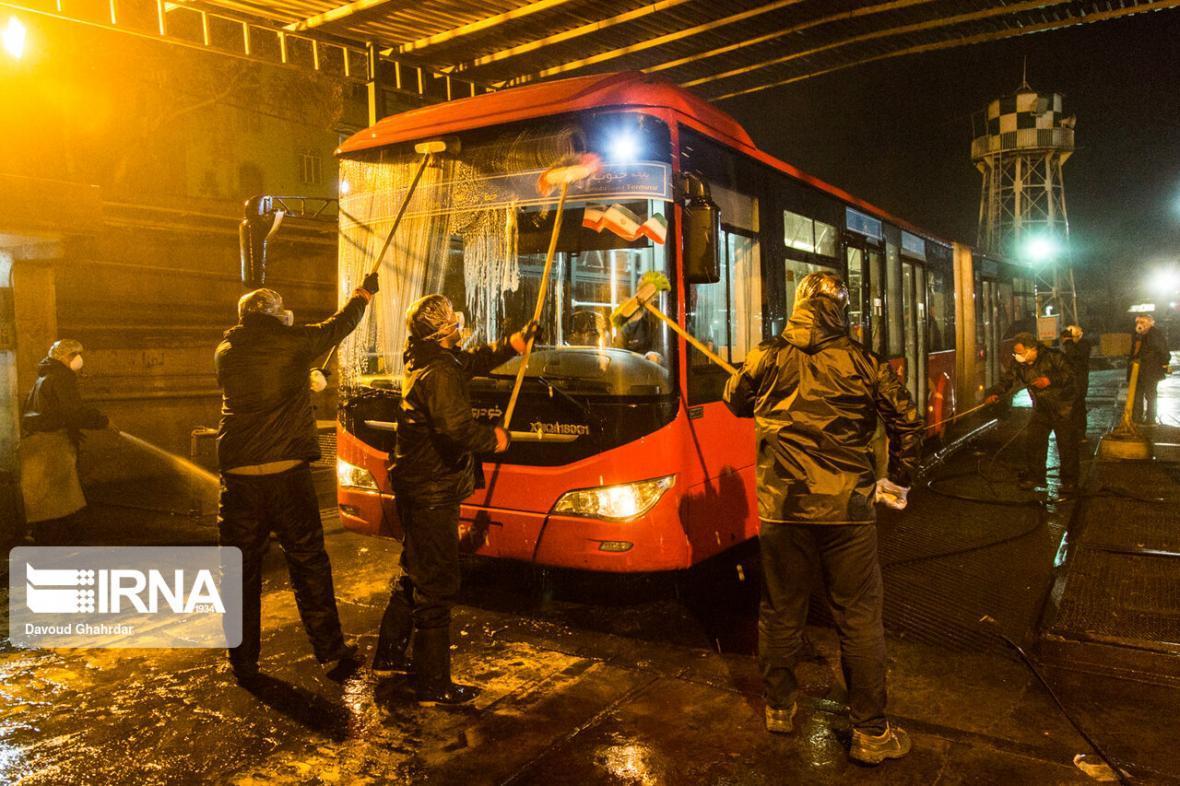 خبرنگاران ضدعفونی 63 پایانه اتوبوسرانی در پایتخت